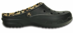 Crocs   Freesail Leopard Lined Black