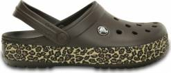 Crocs   Animal Print Clog Espresso/Gold