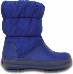 Crocs  sněhule Winter Puff Boot Kids Cerulean Blue
