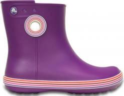 Crocs Dámské holínky Jaunt Stripes Shorty Boot Amethyst/Royal Purple 202317-5g4 38-39