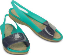 Crocs Dámské sandály Colorblock Flat Tropical Teal/Nautical Navy 200032-3l7 41-42
