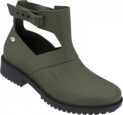 Mel khaki boty Open Boot Green/Black