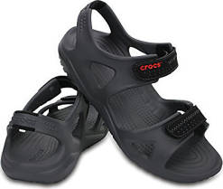 Crocs Sandále Swiftwater River Sandal Black/Black 203965-060