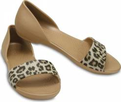 Crocs  sandály Lina Graphic Dorsay Leopard