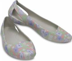 Crocs  baleríny Sienna Graphic Flat Light Pink/Floral